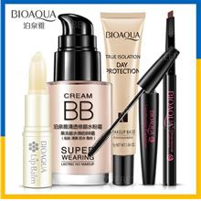 BIOAQUA Makeup Set Lip Balm BB Cream Eyebrow Pencil Mascara Cream Base