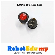 KCD1-106 Rocker Switch Red With LED Button