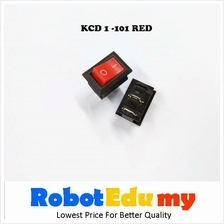 KCD1-101 Rocker Switch Red Button 21*15mm