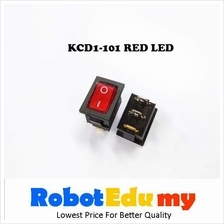 KCD1-101 Rocker Switch Red With LED Button 21*15mm