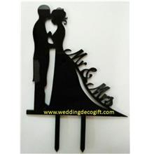 Bride and Groom Mr and Mrs Cake Topper - WCTP09