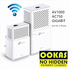 TP-LINK AC750 Gigabit AV1000 Powerline WIFI Wireless TL-WPA7510 KIT