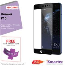 Huawei P10 4D Full Cover Tempered Glass Protector 0.26mm + 9H Hardness..