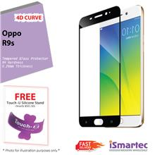 Oppo R9s 4D Full Cover Tempered Glass Protector 0.26mm + 9H Hardness (..