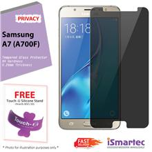 Samsung Galaxy A7 A700F Privacy Tempered Glass Protector 0.26mm + 9H H