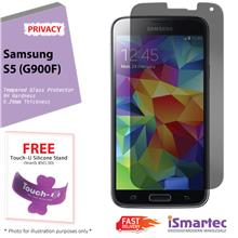 Samsung Galaxy S5 G900F Privacy Tempered Glass Protector 0.26mm + 9H H