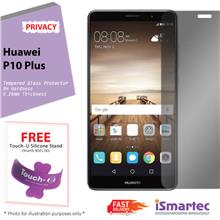 Huawei P10 Plus Privacy Tempered Glass Protector 0.26mm + 9H Hardness