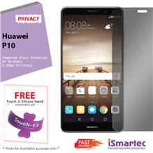 Huawei P10 Privacy Tempered Glass Protector 0.26mm + 9H Hardness (Priv