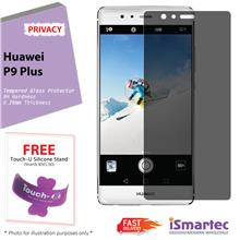 Huawei P9 Plus Privacy Tempered Glass Protector 0.26mm + 9H Hardness (
