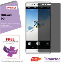 Huawei P9 Privacy Tempered Glass Protector 0.26mm + 9H Hardness (Priva