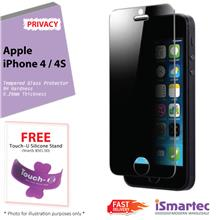 Apple iPhone 4 / iPhone 4s Privacy Tempered Glass Protector 0.26mm + 9