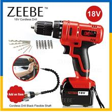 ZEEBE DCTOOLS Rechargeable Cordless 18V Electric Power Tool Drill Set