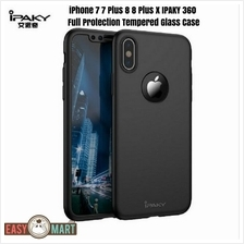 iPhone 7 7 Plus 8 8 Plus X IPAKY360 FullProtection Tempered Glass Case