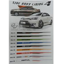 Car Body Side Lining Sticker