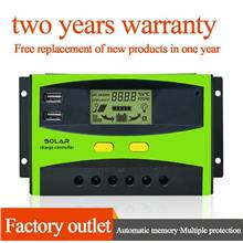 Dual USB 20A 12V/24V LCD Solar battery Charge Controller Street Light