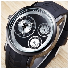 Vintage Unisex Leather Band Stainless Steel Men Watch