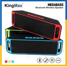 KingMax Portable Dual Speaker Wireless TF USB FM Radio Built-in Mic