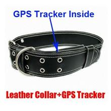 Leather Collar Pet Hidden GPS Tracker (WGPS-16A).