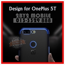 Plating luxury transparent back TPU OnePlus 5T case cover