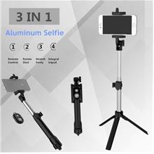 Mini Selfie Stick Fordable Tripod 3 in 1 Universal Remote Bluetooth