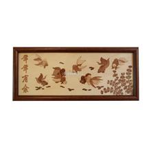 ARCH Wood Veneer 2-D Art - Prosperity Goldfish)