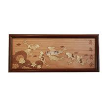 ARCH Wood Veneer 2-D Art - Prosperity Koi)
