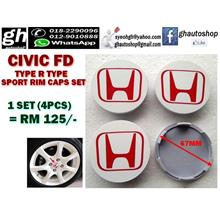 HONDA CIVIC FD TYPE R TYPE SPORT RIM CAPS SET (4PCS)
