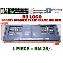 R3 LOGO NUMBER PLATE FRAME HOLDER