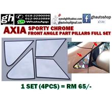 AXIA SPORTY FRONT ANGLE PART FULL CHROME PILLARS SET (4PCS)