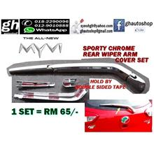 ALL NEW MYVI YR2017 SPORTY REAR WIPER ARM CHROME COVER SET