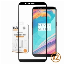 OnePlus 5T 1+5T Screen Protectors (x2), Orzly Pro-Fit Tempered Glass