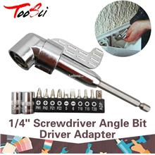 1/4'' Screwdriver Angle Bit Driver Adapter Adjustable Power Head Drill