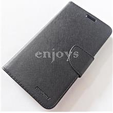 MERCURY Fancy Diary Book Case Flip Cover Pouch Lenovo A916 ~BLACK *XPD
