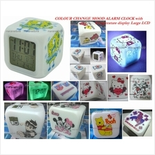 Multi Colour Change Digital Mood Alarm Clock,Temp Display+FREE SHIPPIN