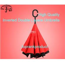 Reverse Inverted Umbrella C hook handle self stand inside out handfree
