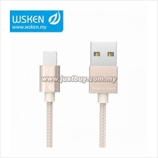 WSKEN Micro USB + Lightning 2 In 1 Cable - Gold