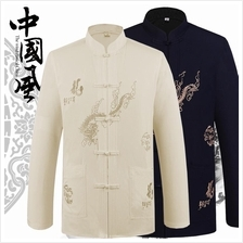 New Tang Suit Chinese Men's Dragon Long-sleeved Shirt