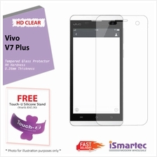 Vivo V7 Plus Tempered Glass Protector 0.26mm + 9H Hardness (HD Clear)