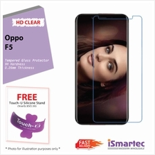 Oppo F5 Tempered Glass Protector 0.26mm + 9H Hardness (HD Clear)