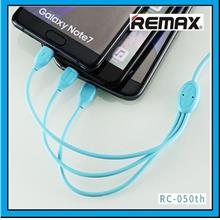 REMAX RC-050th Lesu 3 in 1 Lightning Type-C Micro USB Data Cable