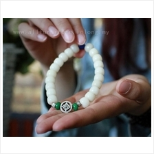 7523 Cross disc white Bodhi bracelet 十字圆盘&..