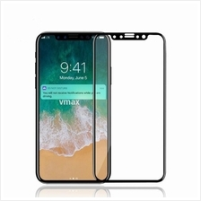 iPhone X Premium Screen Protector White/Black Color 9H Tempered Glass