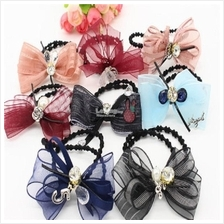 Hair Rope Hair Tie - Bow (Assorted Design)