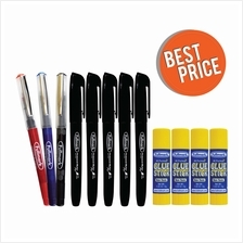 Fullmark Best Price Pack (3 Pens + 5 Permanent Marker + 4 Glue Stick)