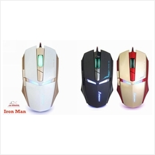 JM GAMING SUNSONNY TM30 USB Wired Adjustable LED Gaming Iron Man Mouse