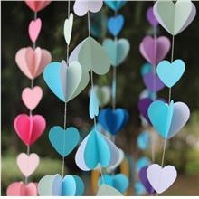 Hanging Paper Heart 1M Mix Balloon Accessories