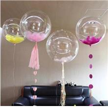 Clear Round Latex Balloons 24'- 2117 0502 13