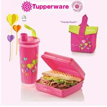 Tupperware Trendy Lunch Set with Carry Bag