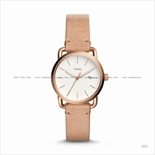 FOSSIL ES4335 Women's The Commuter 3-hand Date Leather Strap Sand