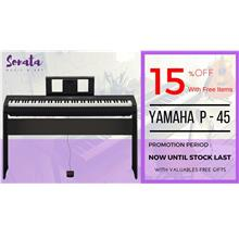 Yamaha Digital Piano  P 45 with FREE Items - Package A